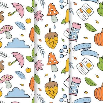 Kolekcja uroczych jesiennych wzorów