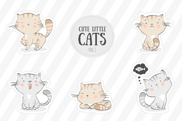 Kolekcja uroczych kotów
