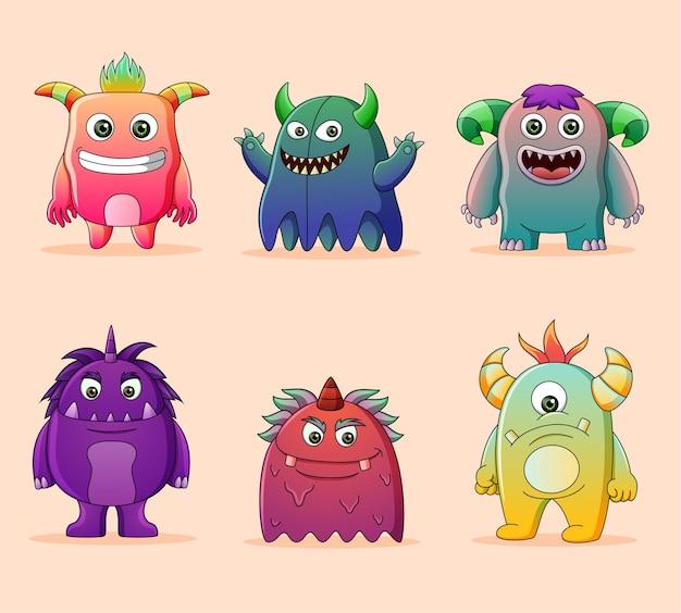 Kolekcja uroczych potworów postaci