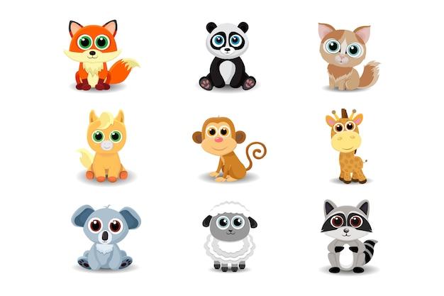 Kolekcja uroczych zwierzątek
