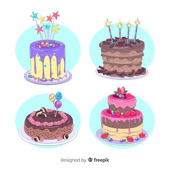 Kolekcja urodzinowych ciast