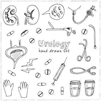 Kolekcja urologii na białym tle ilustracja