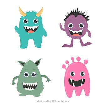 Kolekcja uśmiechniętych potworów