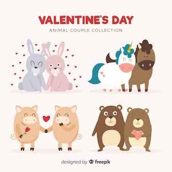 Kolekcja valentine zwierząt para
