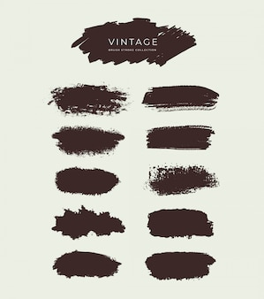 Kolekcja vintage brush stroke