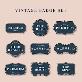 Kolekcja vintage etykieta
