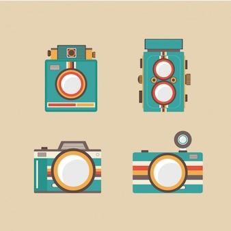 Kolekcja vintage kamery