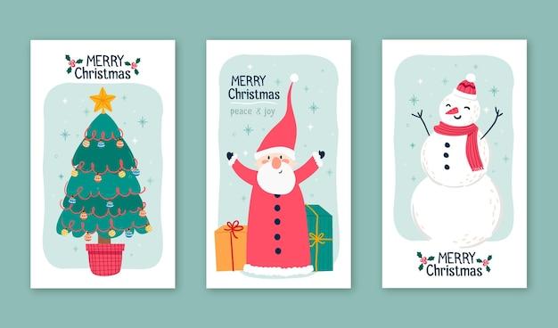 Kolekcja vintage kartki świąteczne