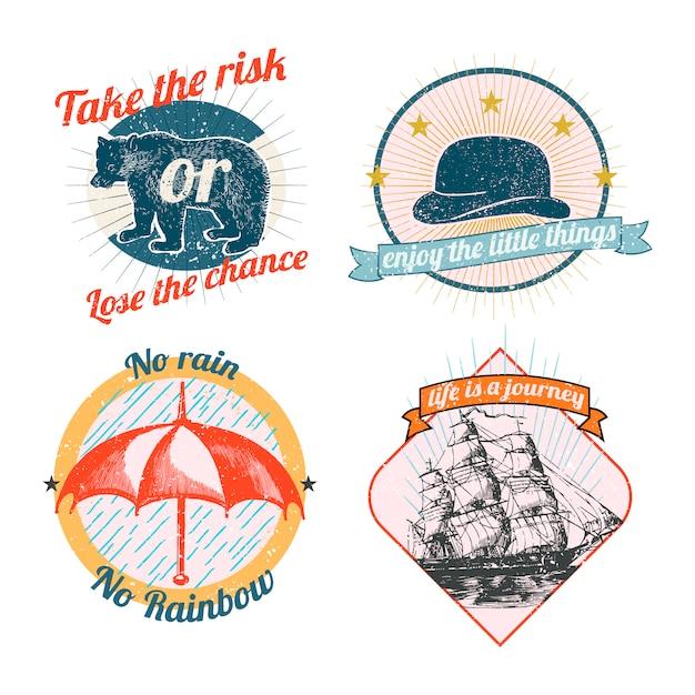 Kolekcja vintage logo i naklejki