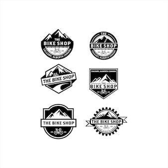 Kolekcja vintage logo roweru