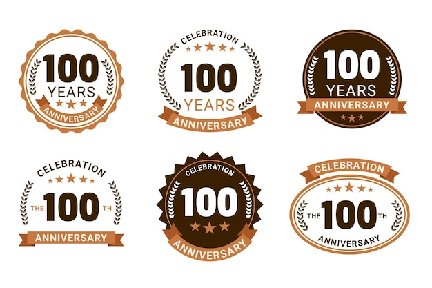 Kolekcja vintage odznaka 100 rocznica