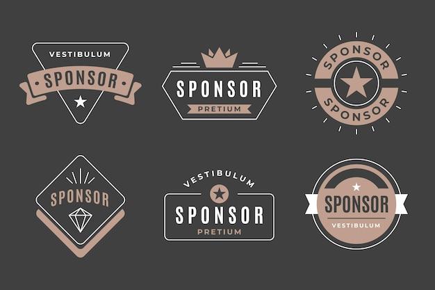 Kolekcja vintage odznaki sponsora