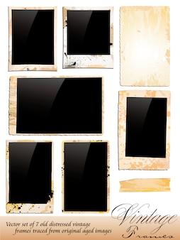 Kolekcja vintage photo frames sprzedawana na podstawie oryginalnej fotografii wieku