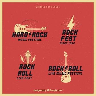 Kolekcja vintage rock logo