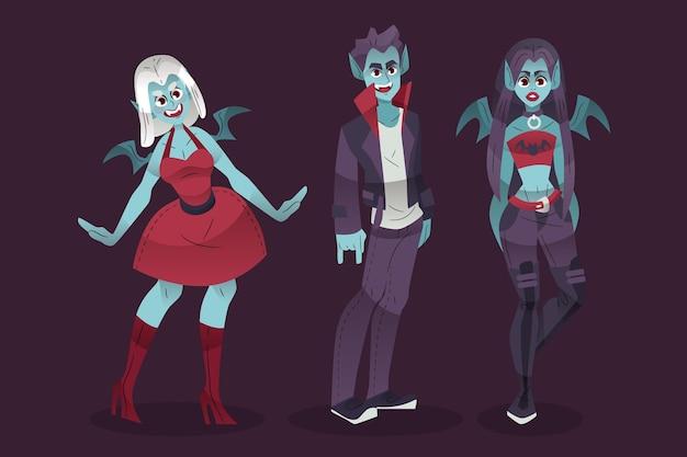 Kolekcja wampirów halloween