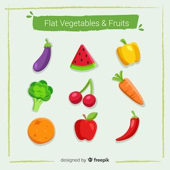 Kolekcja warzyw i owoców