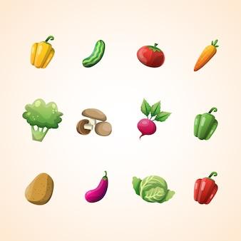 Kolekcja warzyw wektor