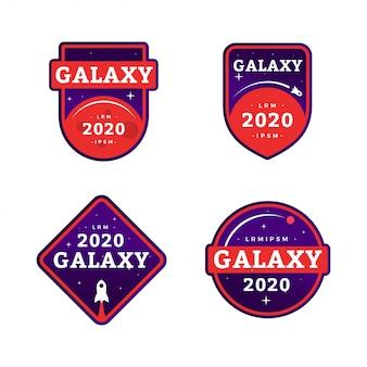 Kolekcja wektor odznaki galaxy