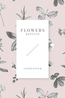 Kolekcja wektor wzór kwitnących kwiatów