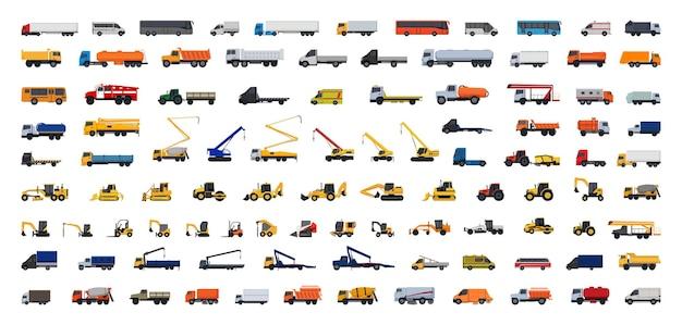 Kolekcja wektorów specjalnego wyposażenia samochodowego