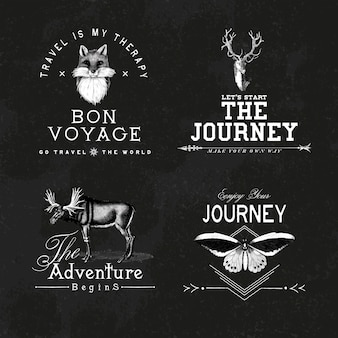 Kolekcja wektorów wektory logo przygoda