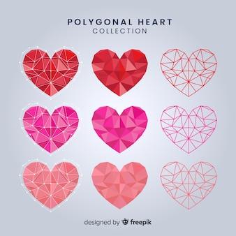Kolekcja wielokąta serca