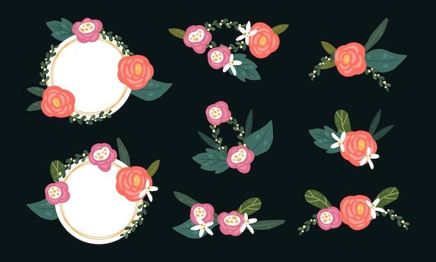 Kolekcja wieniec kwiatowy