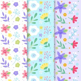 Kolekcja wiosna kwiatowy wzór