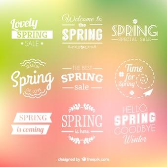 Kolekcja wiosna odznaki