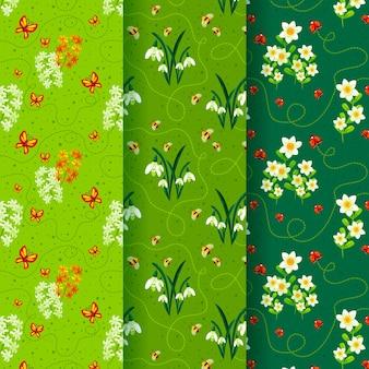 Kolekcja wiosna wzór płaska