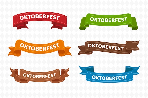 Kolekcja wstążek oktoberfest