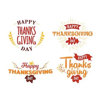 Kolekcja wydarzenie happy thanksgiving