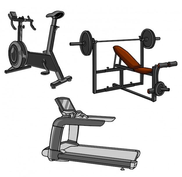Kolekcja wyposażenia siłowni