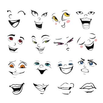 Kolekcja wyrazów twarzy