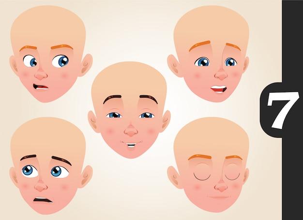 Kolekcja wyrazu twarzy