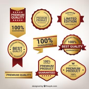 Kolekcja wysokiej jakości złote naklejki