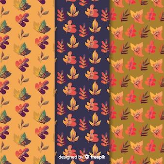 Kolekcja wzór akwarela jesień