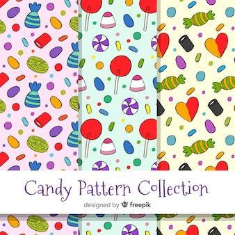 Kolekcja wzór cukierków