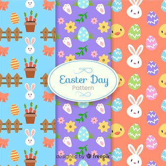 Kolekcja wzór dzień Wielkanocny