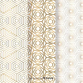 Kolekcja wzór geometryczny złoty luksus