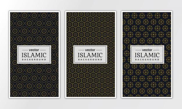 Kolekcja wzór islamski geometryczny luksus