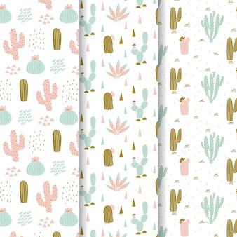 Kolekcja wzór kaktusa