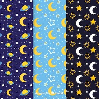 Kolekcja wzór księżyca