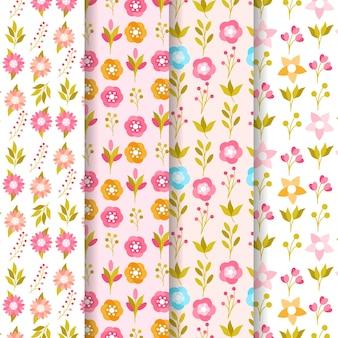 Kolekcja wzór kwiatowy wiosna