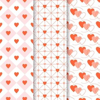 Kolekcja wzór płaski serce