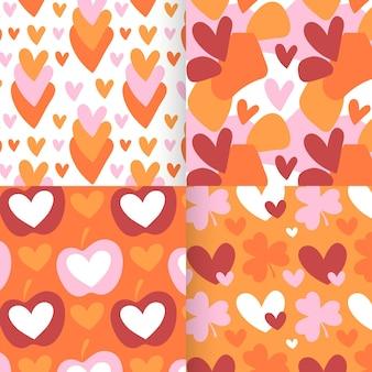 Kolekcja wzór płaskiego serca