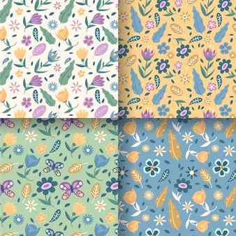 Kolekcja wzór płaskiej wiosny
