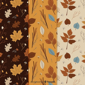 Kolekcja wzór rocznika jesień