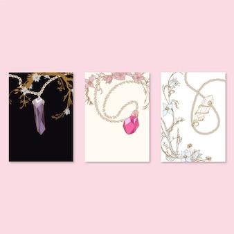 Kolekcja wzorów biżuterii