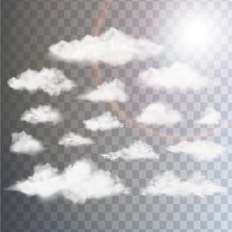 Kolekcja wzorów chmur